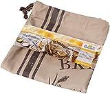 Birkmann 700536 Sac à Pain Freshly Baked en Coton, Brun, 38 x 45 x 1 cm