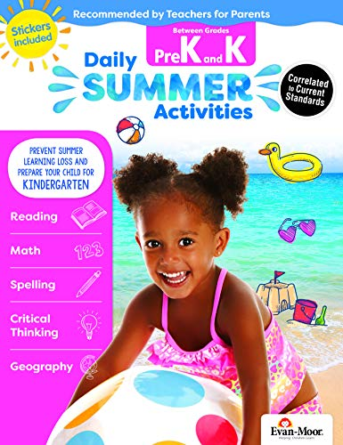 Evan-Moor Daily Summer Activities, Between Pre-K and Kindergarten Activity Book; Summer Learning Workbook for Children (The Best Vacation Ever K5 Learning Answers)