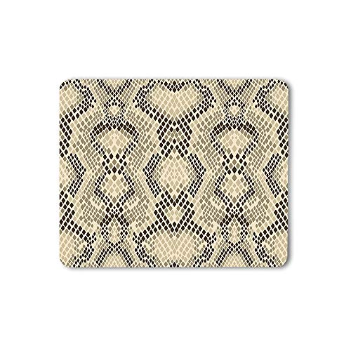 Moslion Snake Skin Print Pattern Mouse Pad Cobra Texture Wild Animal Gaming Mouse Mat Non-Slip Rubber Base Thick Mousepad for Laptop Computer PC 9.5x7.9 Inch