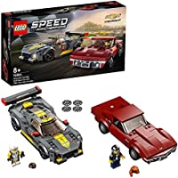 LEGO 76903 Speed Champions Chevrolet Corvette C8.R Race Car and 1968 CC Racing Cars Toys for 8+ Years Old, 2 Sports...