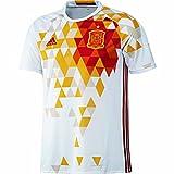 adidas Fef A JSY Camiseta, Unisex, Blanco/Rojo, L