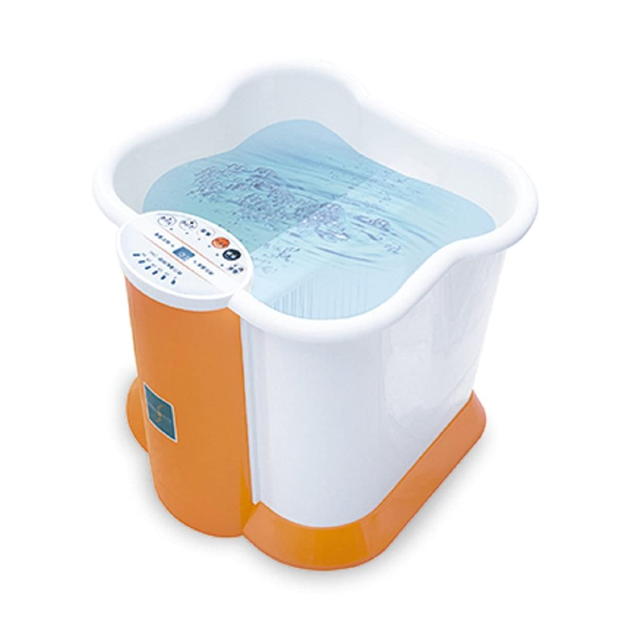 トマト透明に拡声器深型 足湯 フットバス Ashiyu foot Spa KS-N1010 保温 バブル