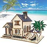 Oyunngs Rompecabezas 3D de Madera, Modelo de casa de construcción de Villa, Juguete Educativo para niños Juguetes educativos para niños