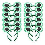 Conjunto de 12 Mickey Minnie Rana Verde Diademas para cumpleaños Fiestas de Halloween Mamá Niños Niñas Accesorios para el cabello Sombrero de orejas de ratón precioso Decoraciones (Rana Verde)
