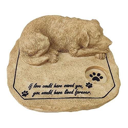 P Prettyia Lápida Mortuoria para Mascotas a Prueba de Agua Piedra Conmemorativa para Perros Lápida para Patio