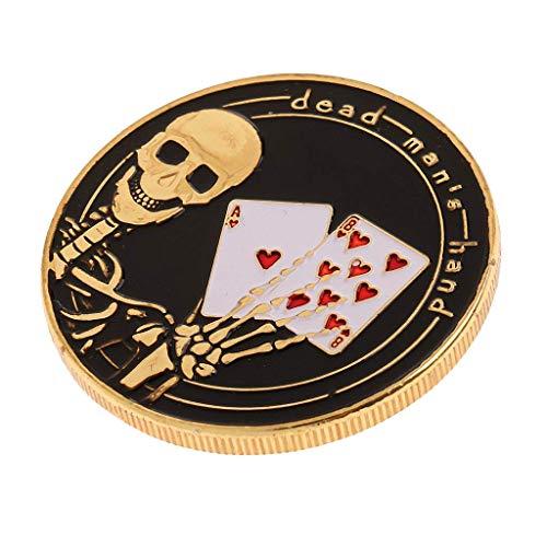 SGerste Metal Poker Guard Card Protector Coins Chip Gold Plated Gedenkmünzen Spielzeug – O, wie beschrieben