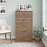 Mainstays Classic 5 Drawer Dresser (Rustic Oak)