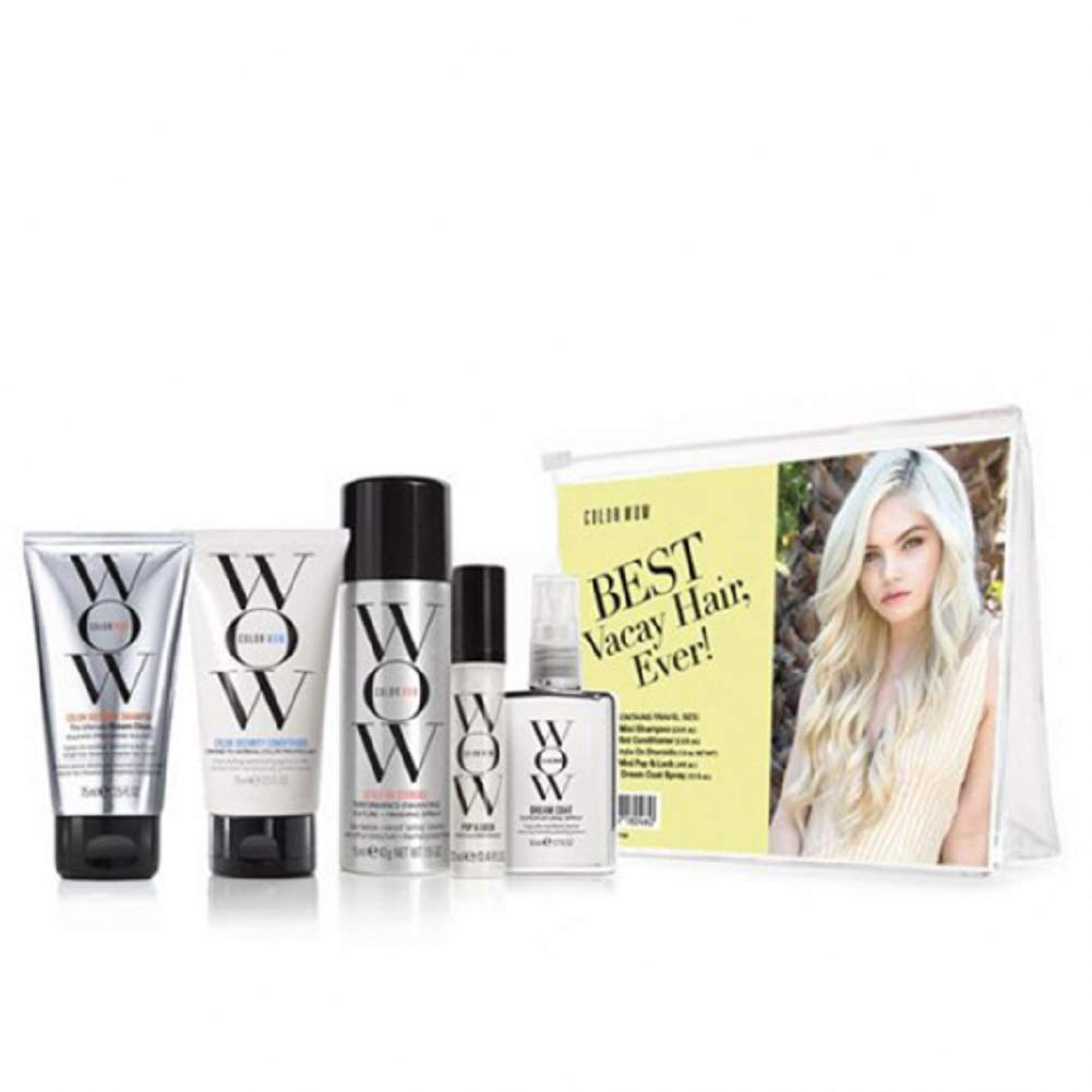 COLOR WOW Best In a popularity Vacay Hair Ever Kit In a popularity Travel Cond Shampoo Includes