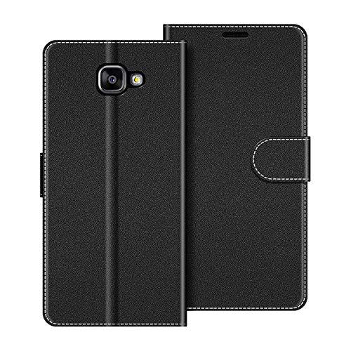 COODIO Funda Samsung Galaxy A5 2016 con Tapa, Funda Movil Samsung A5 2016, Funda Libro Galaxy A5 2016 Carcasa Magnético Funda para Samsung Galaxy A5 2016, Negro