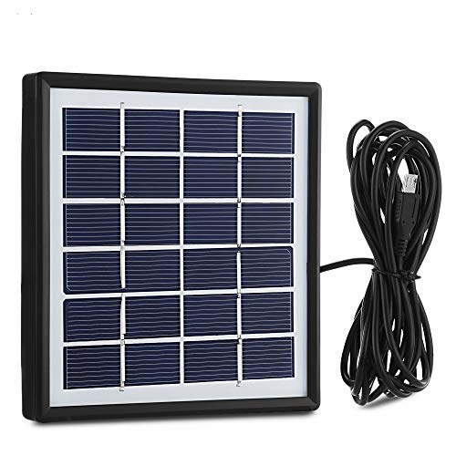 1.8W 6V Solar Panel with USB Port Portable Waterproof Solar Charger for Solar LED Bulb, Cellphone, Tablet