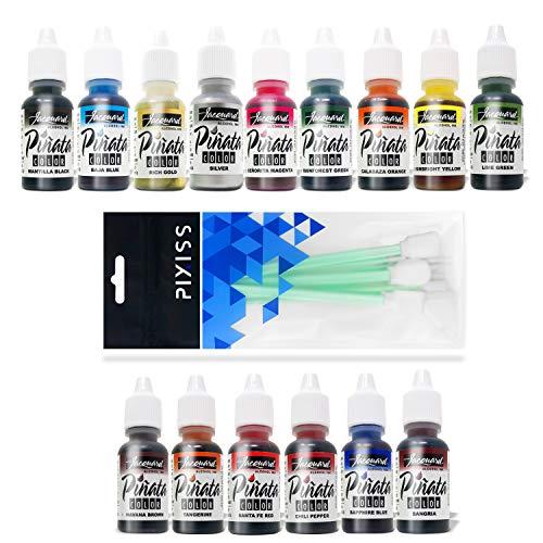 Jacquard Pinata Color Alcohol Inks 15 Color Bundle, 10x Pixiss Ink Blending Tools