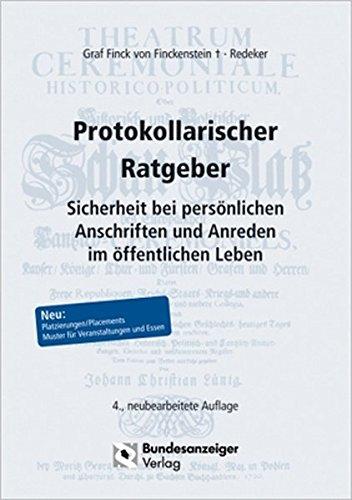 Protokollarischer Ratgeber: Sicherheit bei persönlichen Anschriften und Anreden im öffentlichen Leben