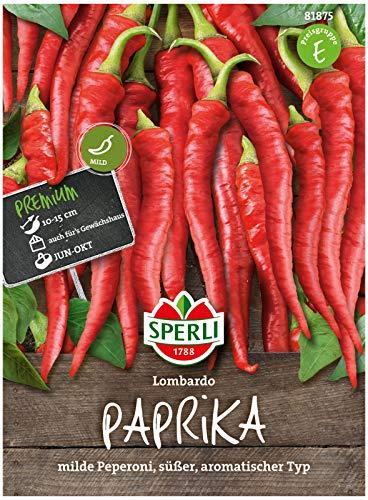 Sperli Premium Paprika Samen Lombardo ; Mild, Süß, Aromatisch ; Peperoni Samen ; Paprika Saatgut
