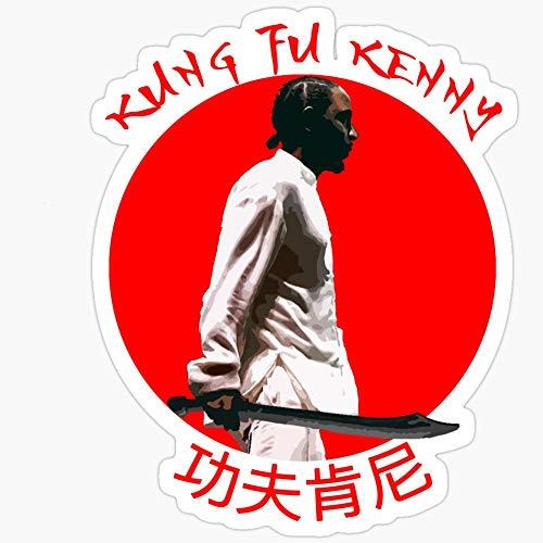 Vinyl Sticker for Cars, Trucks, Water Bottle, Fridge, Laptops Kung Fu Kenny Stickers (3 Pcs/Pack)