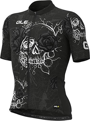 Alé Cycling PRR Skull Kurzarm Trikot Herren Black Größe L 2021 Radtrikot kurzärmlig