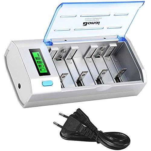 BONAI LCD Universele Snelle Batterijlader voor AA/AAA/SC/C/D/9V NI-Mh/NI-CD Oplaadbare batterijen met oplaadbare batterijontladingsfunctie