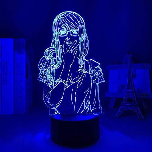 Luz nocturna 3D de lava y anime, lámpara de anime, figura de Cowboy Bebop para niños, decoración nocturna, regalo de cumpleaños, manga, habitación de escritorio, luz LED de Cowboy Bebop DGNYJ