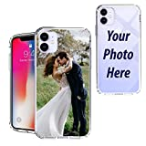 Beyond Cell Customized Case Compatible with iPhone 11 Case 6.1' with Your Photo and Name Phone Case, Clear TPU with PC 4 Corner Protection Case Design, Support Wireless Charging