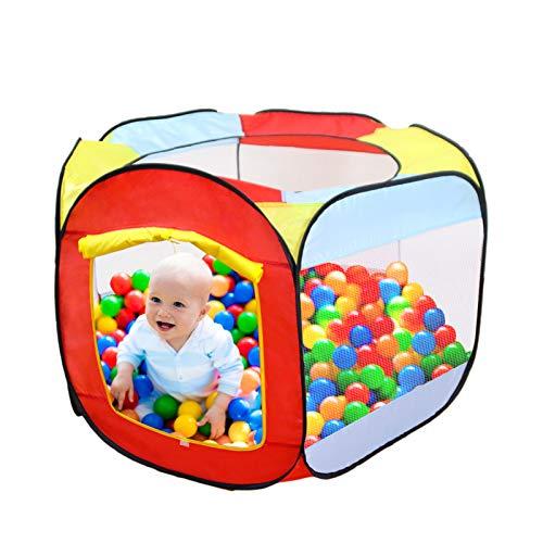 Yideng Piscina de Bolas Tienda para Niños Pop Up Carpa Plegable 140 x128 x 75cm Parque de Bolas Plegable Plegable con Bolsa de Almacenamiento para niños Interiores y Exteriores (Bolas no Incluidas)