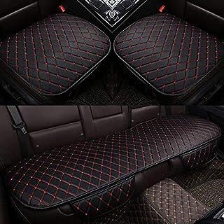 أغطية مقاعد سيارة جلدية عالمية لجميع موديلات MG7 MG5 MG6 MG3 ZS إكسسوارات السيارات وسادة السيارات السيارات (اللون: أسود مع...