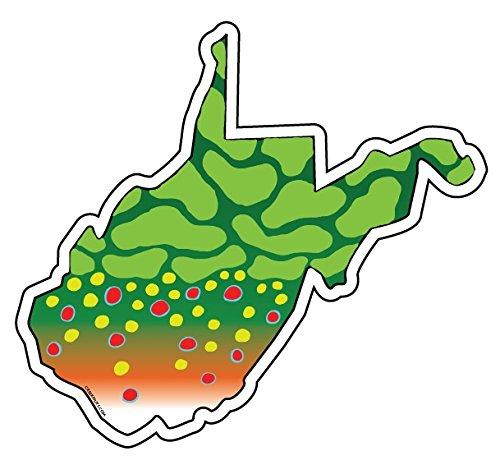 Calcomanía de trucha de West Virginia Brook