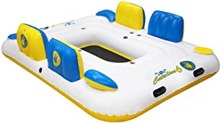 Body Glove Six Person Inflatable Floating Catalina Island with Bluetooth Speaker, 2 Coolers & 6 Drink Holders