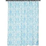 Amazonベーシック シャワーカーテン ブルーベラバスルーム 183cm