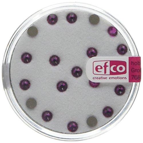 EFCO Swarovski Strass platte stenen ø 3 mm 20 st. Fuchsia, 3 x 3 x 2 cm