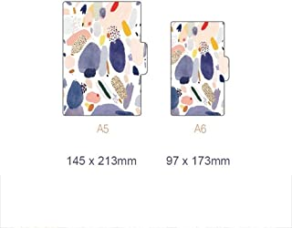 Durable Office Supplies, Spiral Notebook Fun Office Supplies, A5a6 Diary Jersh-school&office Supplies for Blank Writing Paper Notebook Gift Stationery Office (Color : Flower, Size : Small A6)