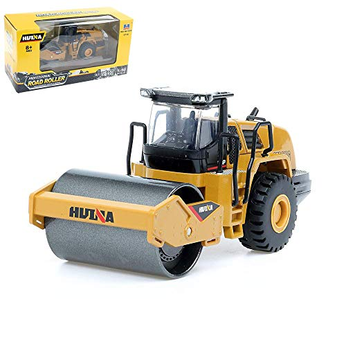 Gemini&Genius 1/50 Scale Metal Die-cast Articulated Dump Truck Road Roller Engineering Vehicle Construction Alloy Models Toys for Kids and Decoration for House(Road Roller)