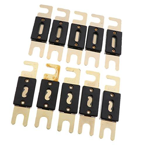 Toygogo 10X 350A + 400A ANL Sicherungen Vergoldet Audio Elektrische Schmelzsicherung