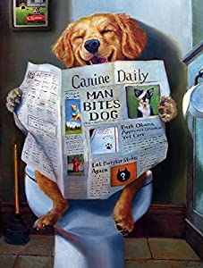 """Buffalo Games - Dog Gone Funny - 750 Piece Jigsaw Puzzle Multicolor, 24""""L X 18""""W from Buffalo Games"""