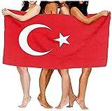 Strandtücher,Sand Proof Quick Dry Reisetuch Türkei Flagge Badetuch Saugfähiges Handtuch Wrap Für Spa Strandtuch 80×130cm