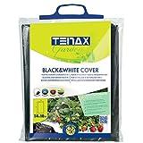 tenax Cover, Film Antierbacce per Pacciamatura, 1,40x10 m, Bianco/Nero, Forzante della Maturazione,...