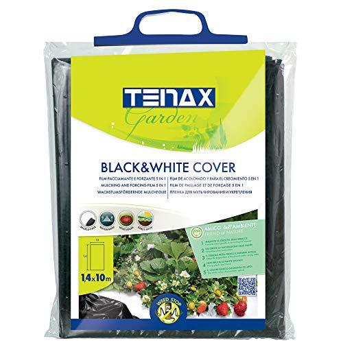 tenax Cover, Film Antierbacce per Pacciamatura, 1,40x10 m, Bianco/Nero, Forzante della Maturazione, 1000x0.04x140 cm