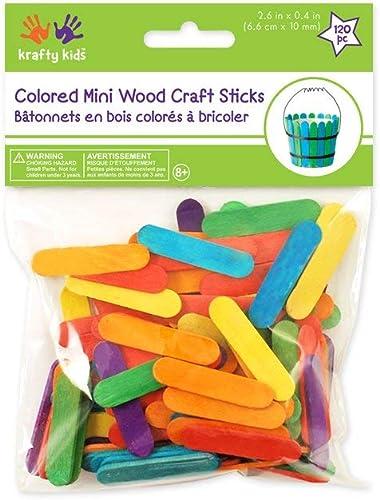"popular Mini new arrival sale Craft Sticks-Colored 2.6"" 120/Pkg outlet online sale"