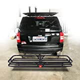 Orion Motor Tech Hitch Mount Steel Cargo Carrier Luggage Basket, Fits 2 Inches Receiver Hitch Hauler (Max....