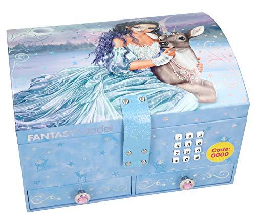 Depesche 10868 - Schmuckkästchen mit Code und Sound, Fantasy Model Iceprincess, ca. 15,7 x 20 x 12,5 cm, blau