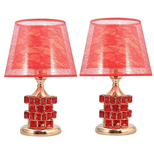 Accesorios para el hogar Lámparas de mesa modernas Juego de 2 lámparas de mesa de cristal Lámpara de noche para dormitorio Lámpara de mesa moderna y cálida para sala de estar Dormitorio familiar (C