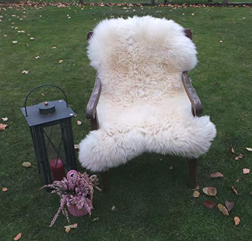 Felltrade Merino Schaffell Lammfell Fell echt groß 120-130 cm weiß ökologische Gerbung