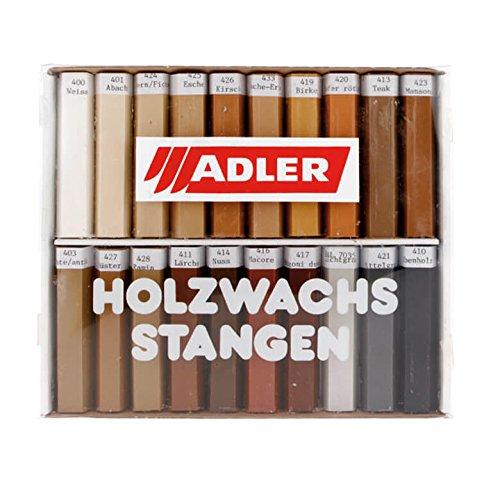 ADLER Grilith Holzwachsstangen 20-Sortiert 20er Wachsstifte Möbelstifte Holzstift