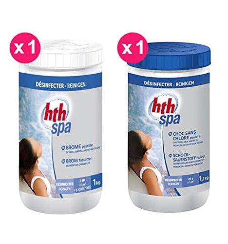 Hth Pack Brome Spa 1x Brome pastilles + 1x Choc sans Chlore