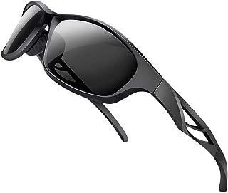 Polarized Sports Sunglasses Lightweight TR90 Frame...