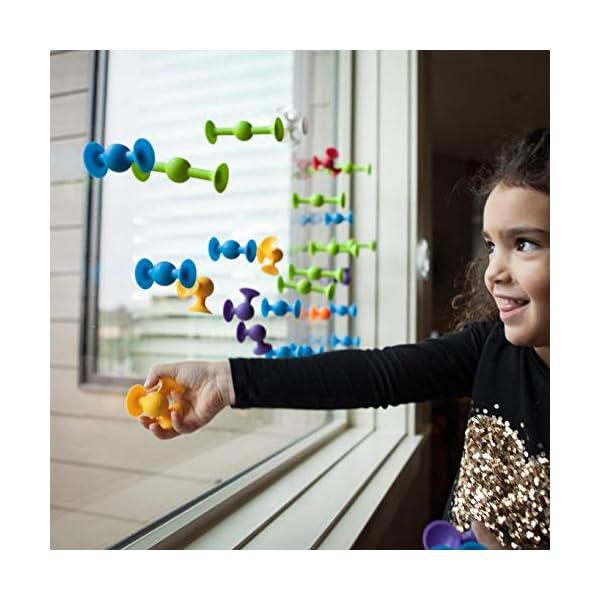 Fat Brain Toys- Fat Brain Toy Squigz Juego construcción ventosas, Multicolor (1)