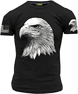 Eagle T-Shirt with American Flag Men's Patriotic Shirts
