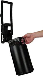 Easy Pull Aluminum Can Crusher Assembly with Black Storage Bin