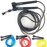 Sportivonetic Springseil für Erwachsene & Kinder – Verstellbare Größe – Speed Rope (Schwarz)