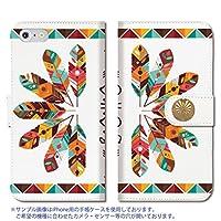301-sanmaruichi- らくらくスマートフォン me F-01L 手帳型 ケース Fujitsu 富士通 ケース 手帳 スマホケース PUレザー カード収納 おしゃれ ネイティブ 手帳ケース 1