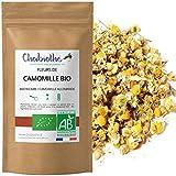 Chabiothé - Fleurs de Camomille BIO (Matricaria chamomilla L) 100g - matricaire sélectionné et conditionné en France