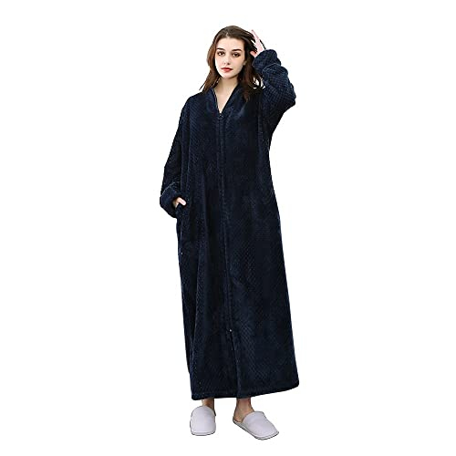 Dressing Gown With Zip Amazoncouk